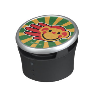 Happy Red Monkey Smiley Face Speaker