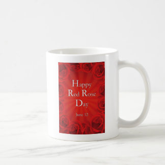 Happy Red Rose Day June 12 Basic White Mug