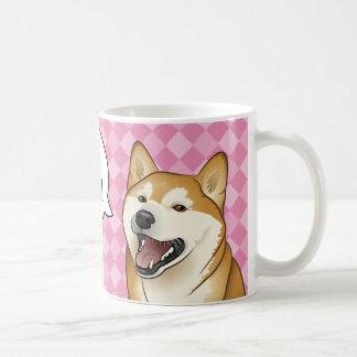 "Happy Red Shiba Inu Dog ""I love"" Customizable mug"