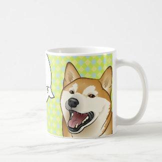 Happy Red Shiba Inu Favorite Food customizable mug
