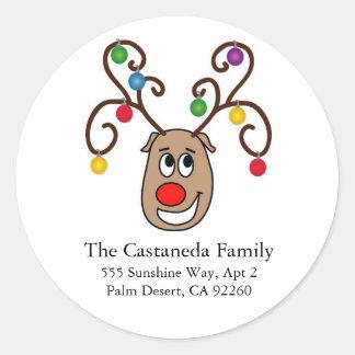 Happy Reindeer Address Labels