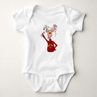 Happy Reindeer Baby Bodysuit