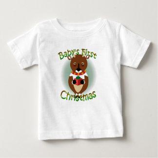 Happy Reindeer Baby Shirt