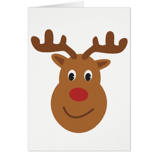 Happy reindeer Christmas Card