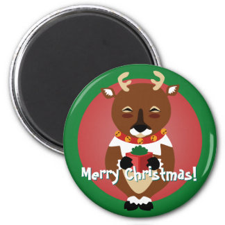 Happy Reindeer Magnet