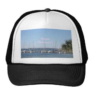 Happy Retirement beach sail boats palm trees Cap