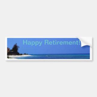 Happy Retirement - Blue sky, blue ocean Bumper Sticker