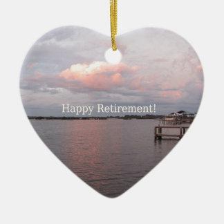 Happy Retirement - Cedar Key Florida Christmas Ornament