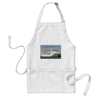Happy retirement cruise ship 2 aprons