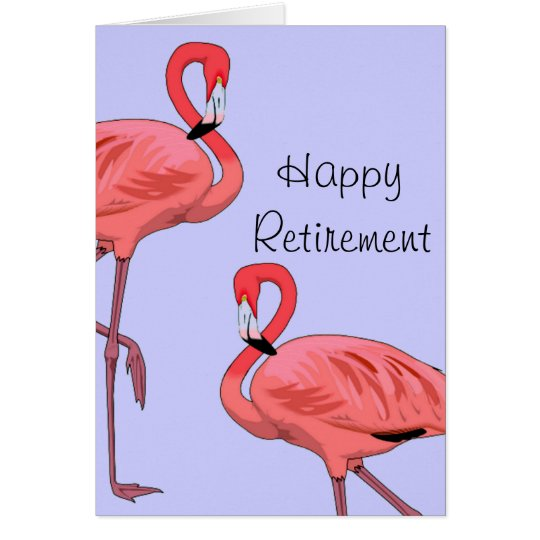 Happy Retirement Flamingos Vintage Style Card
