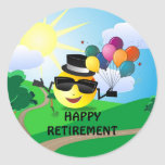 Happy Retirement from Cool Smiley Round Sticker