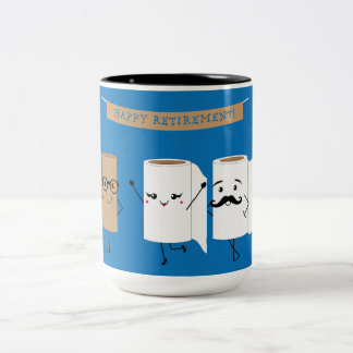 Happy Retirement Funny Toilet Paper Two-Tone Coffee Mug