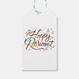 Happy Retirement Gift Tags