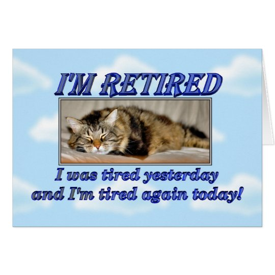 Happy Retirement Leaving work Sleeping cat Card