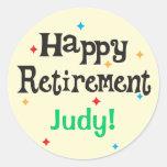 Happy Retirement Party Custom Name