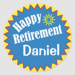 Happy Retirement Party Personalised Round Sticker