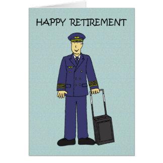 Happy Retirement Pilot Greeting Card
