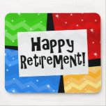 Happy Retirement, Primary Colour Squares Party
