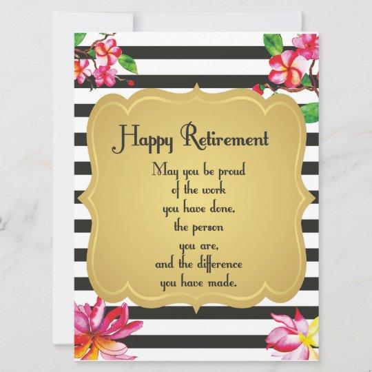 happy retirement quote farewell gift card  zazzlecouk