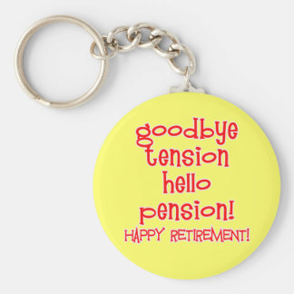 Happy Retirement! Tshirts and Retiree Gifts Basic Round Button Key Ring