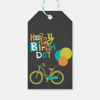 Happy Retro Birthday Gift Tags