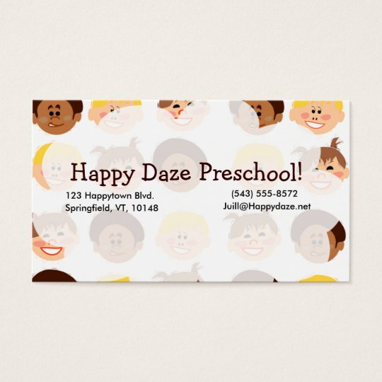 Happy Retro Kids Too Business Card