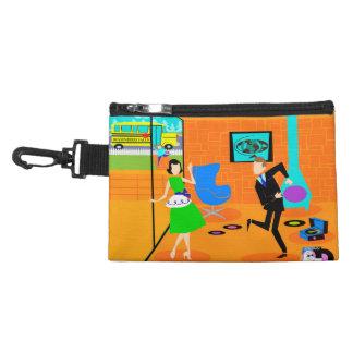 Happy Retro Parents Clip On Accessory Bag