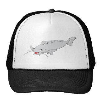 Happy River Catfish Cartoon Trucker Hat