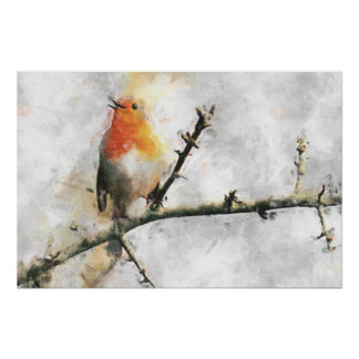 Happy Robin Poster