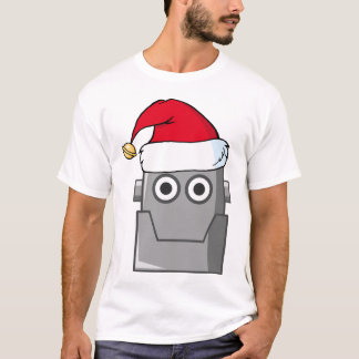HAPPY ROBOT SANTA HAT HEAD T-Shirt