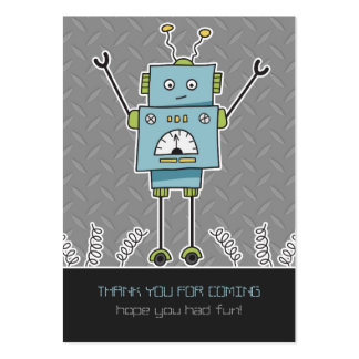 Happy Robot & Springs Party Favor Thank You Cards Business Card Template