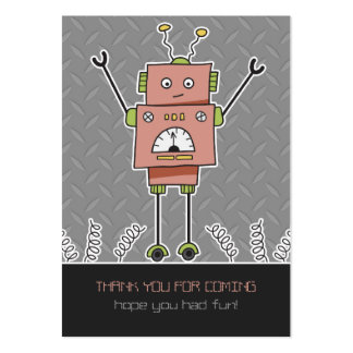 Happy Robot & Springs Party Favor Thank You Cards Business Card