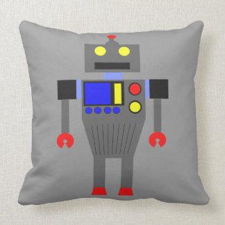HAPPY ROBOT Throw Pillow