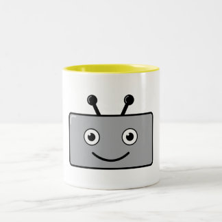 Happy Robot Two-Tone Mug