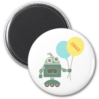 Happy Robot with Balloons for kids Magnet
