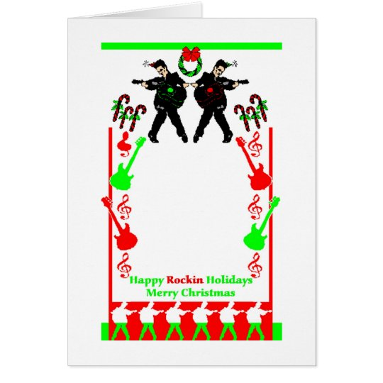 Happy Rockin Holidays Card