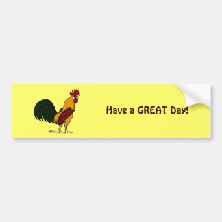 Happy Rooster Bumper Sticker