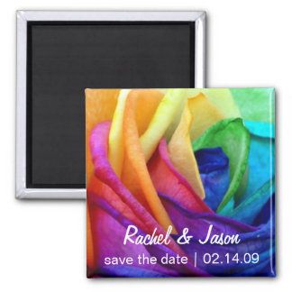 Happy Rose   Save the Date Square Magnet