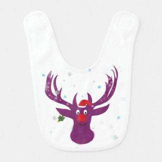 Happy Rudol Reindeer Baby Bib