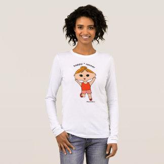 Happy runner women's long sleeve t-shirt #3