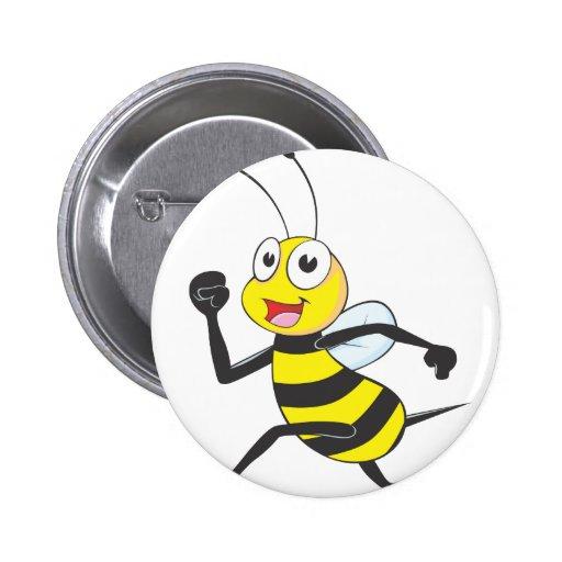 Happy Running Bee Pin