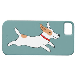 Happy Running Jack Russell Terrier - Cute Dog iPhone 5 Case