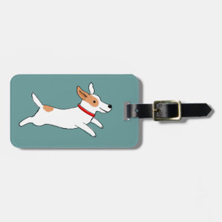 Happy Running Jack Russell Terrier - Cute Dog Luggage Tag