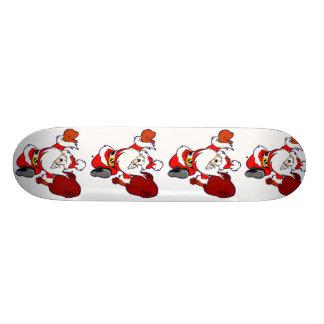 Happy Running Santa 18.1 Cm Old School Skateboard Deck