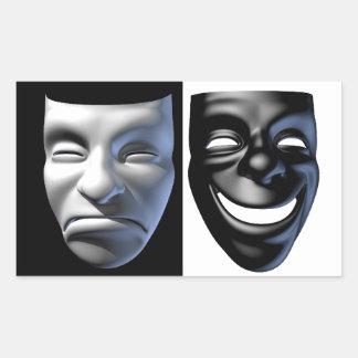 Happy-Sad Mask Stickers