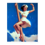 Happy Sailor Pin Up Postcard