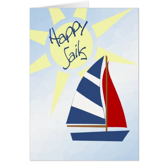 Happy Sails Fair Winds and Following Seas Cards