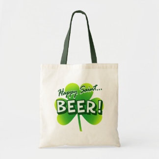 Happy Saint ... BEER! Canvas Bags