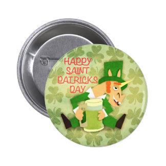 Happy Saint Patrick's Day 6 Cm Round Badge