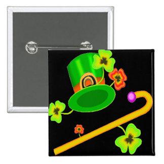 Happy Saint Patricks Day 15 Cm Square Badge